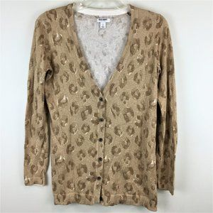 Old Navy knit animal print button down sweater